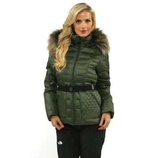 The North Face Women's Fig Green Parkina Down Jacket