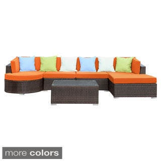Montana Brown Outdoor Patio 5-piece Sectional Set