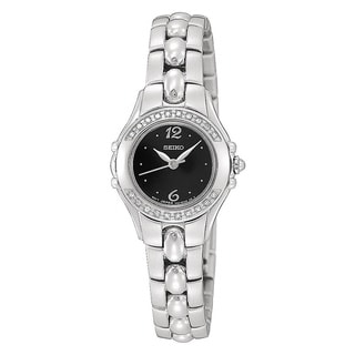 Seiko Women's Quartz Steel Diamond Dress Watch