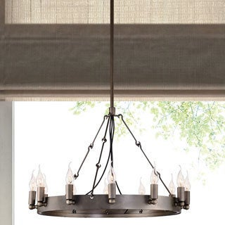 Limestone 12-light Rust Ceiling Lamp