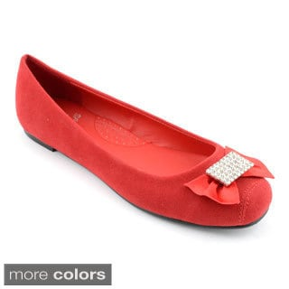 Women's Jewel Accent Ballerina Flats