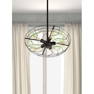 Tellurium 5-light Rust/ Black Ceiling Lamp