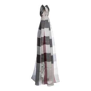 Burberry Trench Mega Check Satin Silk Scarf