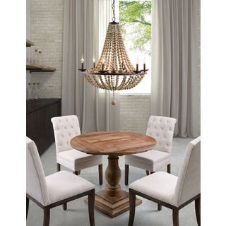 Flint 6-light Rust/ Shell Ceiling Lamp