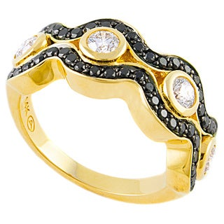 Beverly Hills Charm 14k Gold 1ct TDW Black and White Diamond Ring (H-I, SI2-I1)