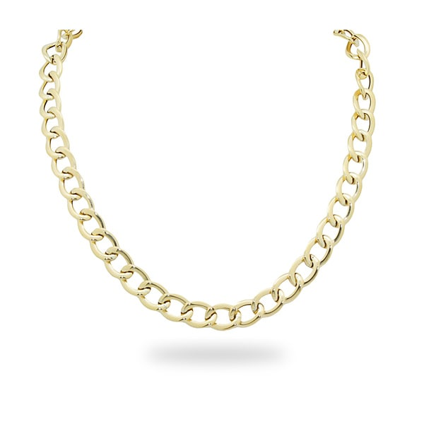 Gioelli 14k Gold Open Link Necklace