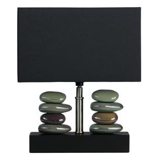 Cortesi Home Balance 1-light Black Small Table Lamp