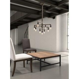 Dragonite 9-light Antique Brass Ceiling Lamp