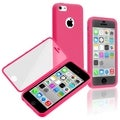 BasAcc Hot Pink/ Clear Frosted Book TPU Case for Apple� iPhone 5C