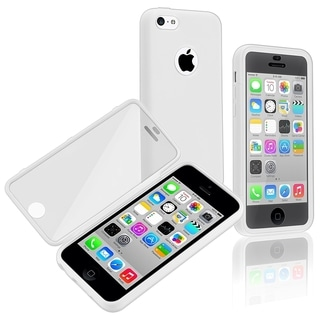 BasAcc White/ Clear Frosted Cover Book TPU Case for Apple� iPhone 5C