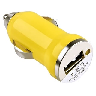 INSTEN Yellow USB Mini Car Charger Adapter for Apple iPhone 4/ 4S/5/ 5S/ 6