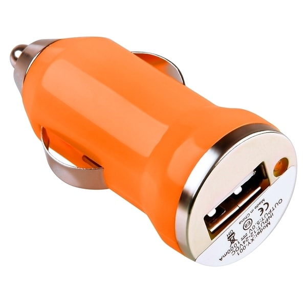 INSTEN Orange USB Mini Car Charger Adapter for Apple iPhone 4/ 4S/5/ 5S/ 6
