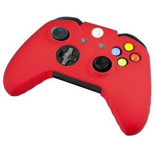 INSTEN Red Soft Silicone Skin Phone Case Cover for Microsoft Xbox One Controller