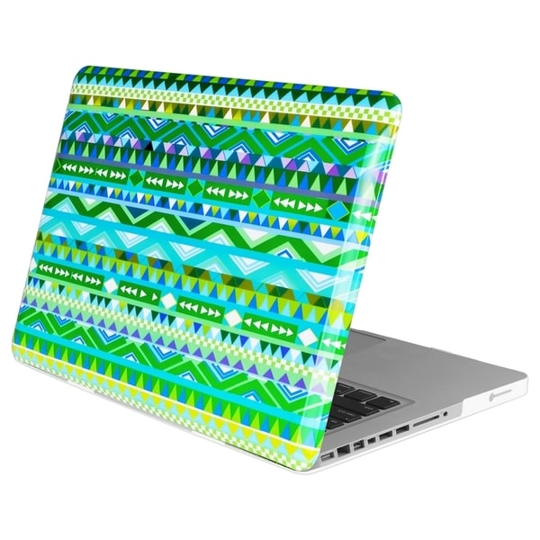 INSTEN Green Tribal Rubber Coated Laptop Case Cover for Apple MacBook Pro 13-inch