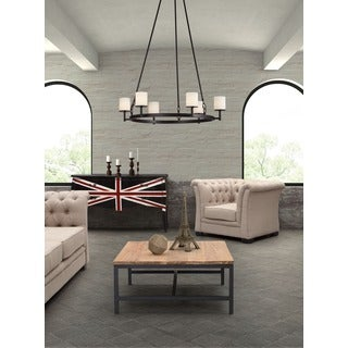 Gibbsite 6-light Rust/ Black Ceiling Lamp