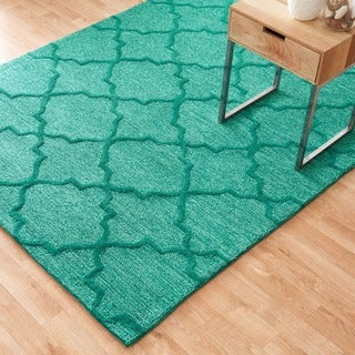 "Hand Tufted Benson Green Rug (7'6""x9'6"")"