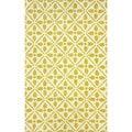 nuLOOM Handmade Modern Lattice Trellis Gold Rug (5' x 8')