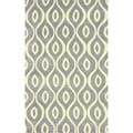 nuLOOM Handmade Modern Lattice Trellis Grey Rug (7'6 x 9'6)