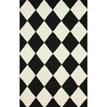 nuLOOM Hand-hooked Checkered Diamond Black Rug (5' x 8')