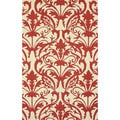 nuLOOM Hand-hooked Transitional Elegance Red Rug (5' x 8')