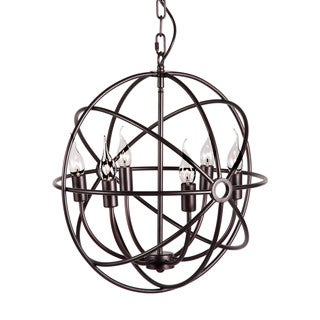 Hazenite 6-light Rust Ceiling Lamp
