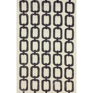 nuLOOM Handmade Indoor/ Outdoor Chain Links Grey Rug (5' x 8')