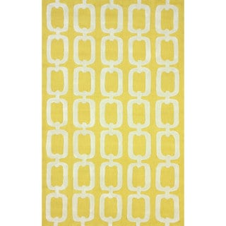 nuLOOM Handmade Indoor/ Outdoor Chain Links Yellow Rug (5' x 8')