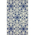 nuLOOM Hand-hooked Modern Abstract Flower Blue Rug (7'6 x 9'6)