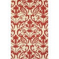 nuLOOM Hand-hooked Transitional Elegance Red Rug (7'6 x 9'6)