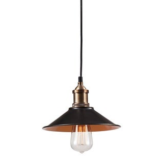 Metaborite 1-light Antique Black Gold/ Copper Ceiling Lamp Pendant