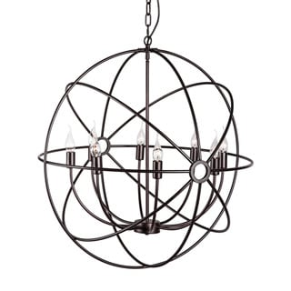Helvine 8-light Rust Ceiling Lamp