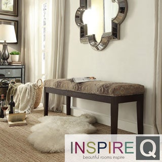 INSPIRE Q Chelsea Oval Chain Fabric 52-inch Cushioned Bench