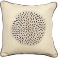 Decorative Contemporary Beige Floral Valley 22-inch Down Fill Throw Pillow