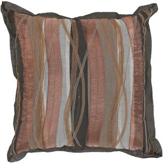 'Valko' Brown Abstract Down or Poly Filled 22-inch Throw Pillow