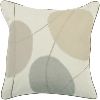 'Vadin' Beige Abstract Down or Poly Filled 22-inch Throw Pillow