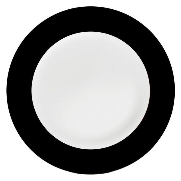Konitz Black China Salad & Dessert Plates (Set of 2)