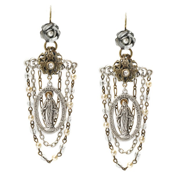 Sweet Romance Our Lady of Miracle Earrings