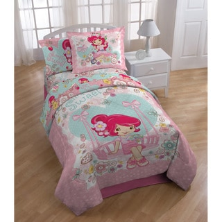 Strawberry Shortcake 'Simply Sweet' Twin-size 5-piece Pillow Buddy Bed in a Bag with Sheet Set