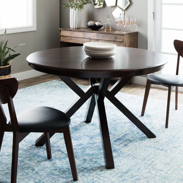 context dark brown wooden top dining table 80005171