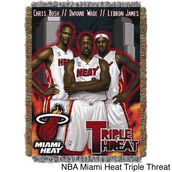 NBA Miami Heat Woven Tapestry Throw 12217928