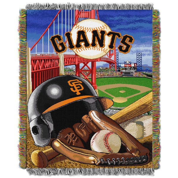 MLB Woven Tapestry Throw 12160534
