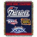 NFL Super Bowl Champion Woven Tapestry Throw (Multi Team Options)