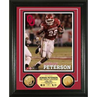 Adrian Peterson University of Oklahoma Gold Coin Photo Mint