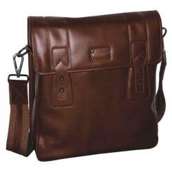 Men's Dopp Leather Urban Messenger Brown