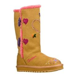 Girls' Skechers Twinkle Toes Keepsakes Heart Sparkler Natural/Hot Pink