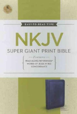 Holy Bible: New King James Version Super Giant Print Reference Bible (Paperback)