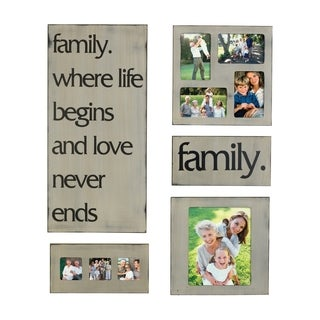 Sentiment 5-piece Plaque and Photo Collage Set