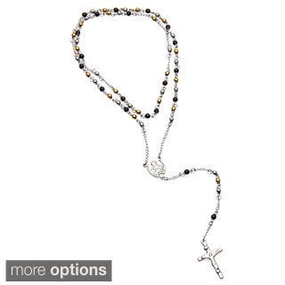 Stainless Steel 4mm Rosary Necklace
