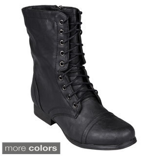 Madden Girl by Steve Madden Women's Lace-Up Ankle Combat Boots