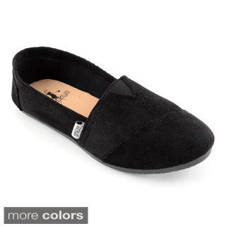 Corkys Women's Slip On Corduroy Sues